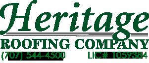 Heritage Roofing Phone: 707-544-4500 License 1059384