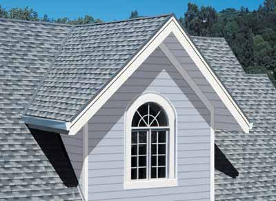 Composition Shingles on a home